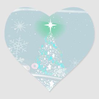 Cold Christmas Heart Sticker