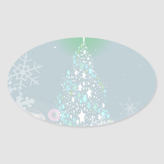 Cold Christmas Oval Sticker