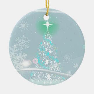 Cold Christmas Round Ceramic Ornament