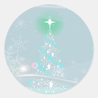 Cold Christmas Round Sticker