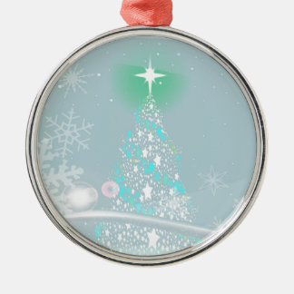 Cold Christmas Silver-Colored Round Ornament