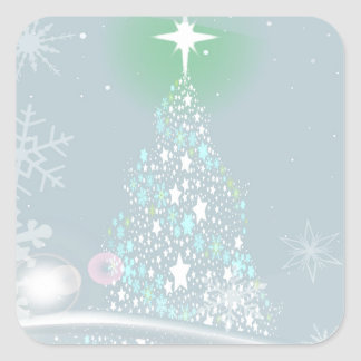 Cold Christmas Square Sticker