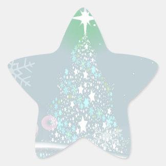 Cold Christmas Star Sticker