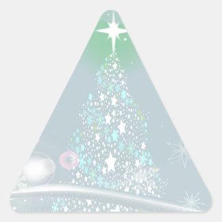 Cold Christmas Triangle Sticker