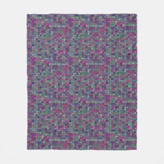 Cold Colored Tiles Pillow Fleece Blanket
