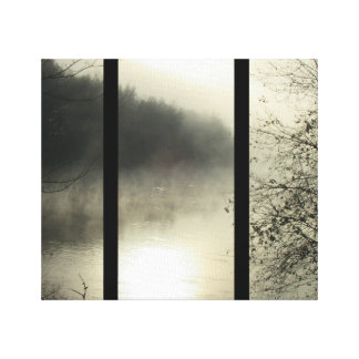 Cold Day River Canvas Print