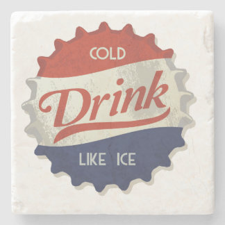 Cold Drink Cola Bottle Cap Stone Coaster