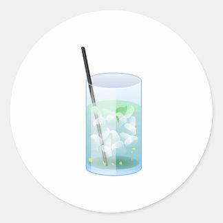 Cold Drink Round Sticker