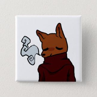 Cold Fox (2 Inch Square Button) 2 Inch Square Button