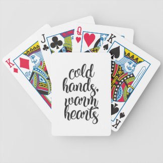 Cold Hands Warm Hearts Bicycle Playing Cards
