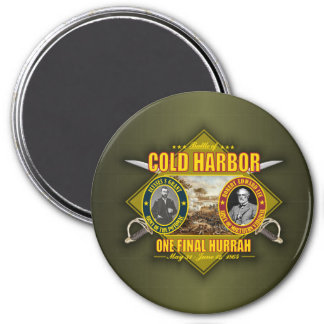 Cold Harbor 3 Inch Round Magnet