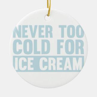 Cold Ice Cream Ceramic Ornament