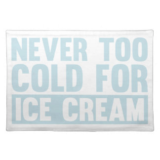 Cold Ice Cream Placemat