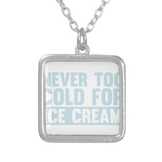 Cold Ice Cream Silver Plated Necklace