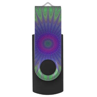 Cold mandala swivel USB 3.0 flash drive