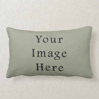 Cold Moss Green Color Trend Blank Template Lumbar Pillow