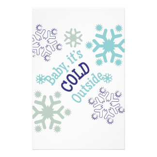 Cold Outside Stationery Paper