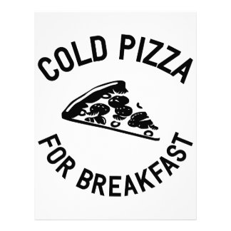 Cold Pizza for Breakfast Letterhead