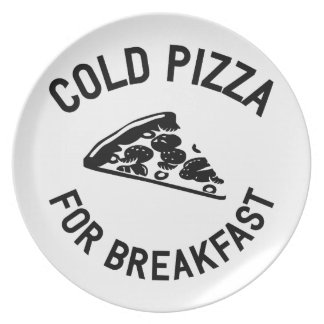 Cold Pizza for Breakfast Plate