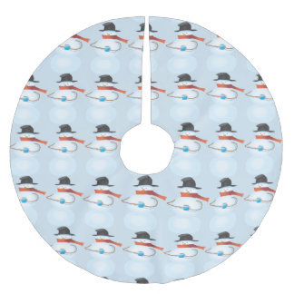 Cold Snowman Brushed Polyester Tree Skirt
