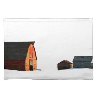Cold Snows of a Prairie Winter Placemat