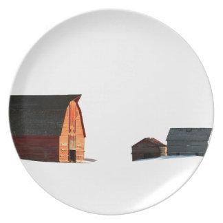 Cold Snows of a Prairie Winter Plate