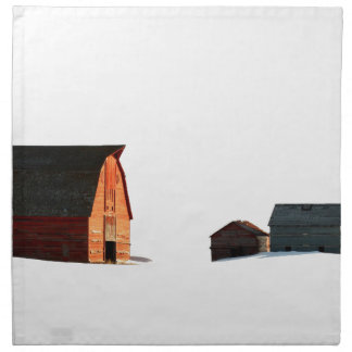 Cold Snows of a Prairie Winter Printed Napkins