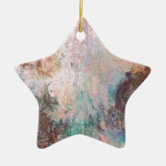 Cold Stone Abstract Ceramic Star Ornament