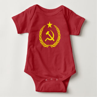 Cold War Communist Flag Baby Jersey Bodysuit