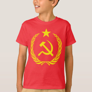 Cold War Communist Flag Kids Hanes TAGLESS T-Shirt
