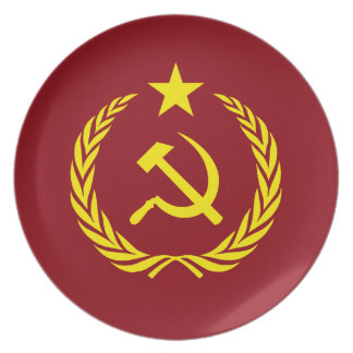 Cold War Communist Flag Melamine Plate