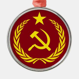 Cold War Communist Flag Premium Round Ornament
