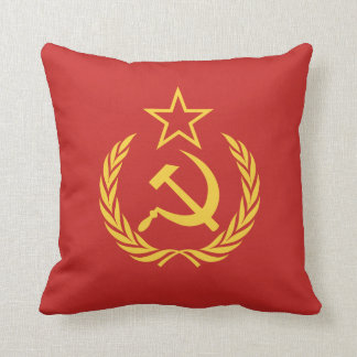 Cold War Communist Flag Throw Pillow