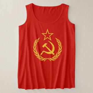 Cold War Communist Flag Women's Plus-Size Tank Top