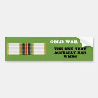 Cold War Vet Bumper Sticker- 2nd Type Bumper Sticker