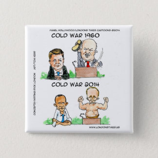 Cold Wars of 1960 And 2014 Funny 2 Inch Square Button