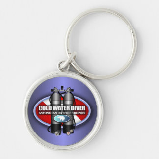 Cold Water Diver (ST) Silver-Colored Round Keychain