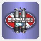 Cold Water Diver (ST) Square Sticker