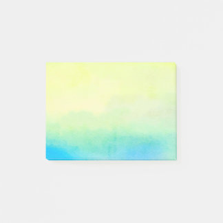 Cold Watercolor Paint Post-It Notes