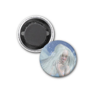 Cold Winter Fairy Portrait Magnet