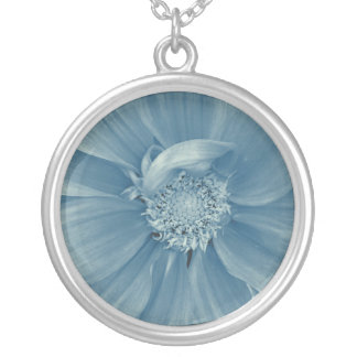 Cold Winter Flower Silver Plated Necklace