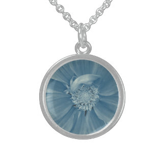 Cold Winter Flower Sterling Silver Necklace