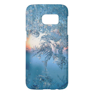 Cold Winter Frosted Glass Ice Crystals Samsung Galaxy S7 Case