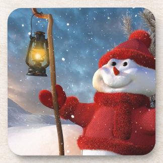 Cold Winter Snowman Drink Coaster