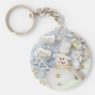 Cold Winter Snowman Keychain
