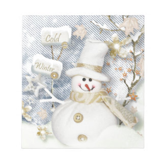 Cold Winter Snowman Notepad