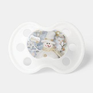 Cold Winter Snowman Pacifiers