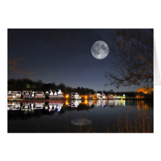 Cold Winter's Night on Boathouse Row Card