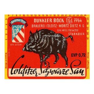 Colditzer Schwarze Sau Postcard