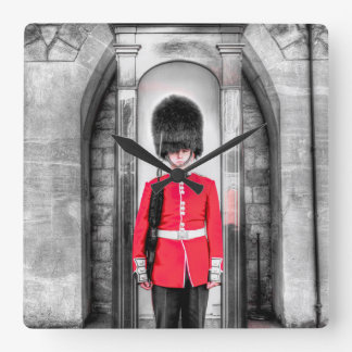 Coldstream Guard Sentry Square Wall Clock